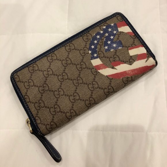 2825aed40a7c Gucci Bags | Usa Flag Zip Wallet | Poshmark